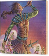 Foxglove - Summon Your Courage Wood Print