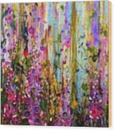 Foxgloves Panel One Wood Print