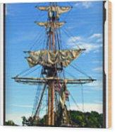 Fox's Dock Wood Print