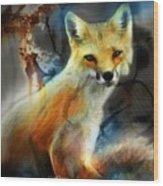 Foxy Baby Wood Print