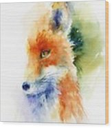Foxy Impression Wood Print
