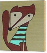 Foxy Moxy Wood Print