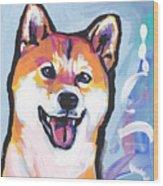Foxy Shiba Wood Print