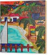 Foxy's At Jost Van Dyke Wood Print