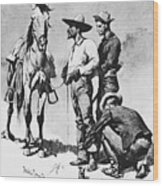 Fr 043 Third Cavalry Trooper Searching A Suspected Revolutionist Fredericremington Sqs Frederick Remington Wood Print
