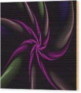 Fractal Abstract 070110 Wood Print