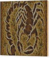 Fractal Abstract Scorpion Wood Print