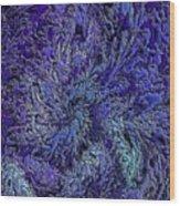 Fractal Blues Wood Print
