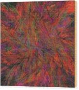 Fractal Burst Wood Print