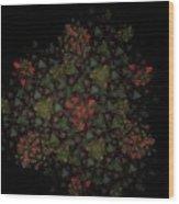 Fractal Christmasbouquet  Wood Print