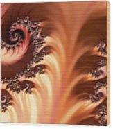 Fractal Desert Wood Print