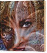 Fractal Eyes Wood Print