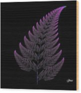 Fractal Fern Wood Print