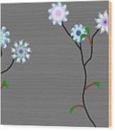 Fractal Floral 10-21-09 Wood Print