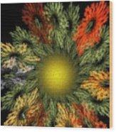 Fractal Floral 12-05-09 Wood Print