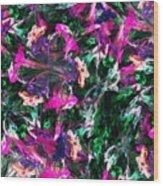 Fractal Floral Riot Wood Print