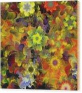 Fractal Floral Study 10-27-09 Wood Print