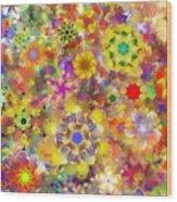 Fractal Floral Study 2 Wood Print