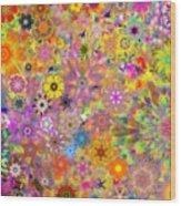 Fractal Floral Study 3 Wood Print