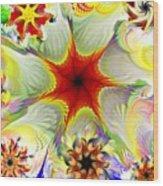 Fractal Garden 9 Wood Print