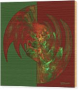 Fractal Grasp Wood Print
