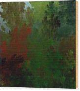 Fractal Landscape 11-21-09 Wood Print