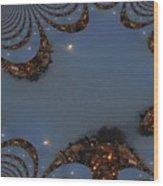 Fractal Moon Wood Print