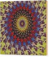 Fractal Outburst Catus 1 No. 10 -sunsettia For Lea V A Wood Print