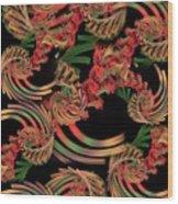 Fractal Patterning Wood Print