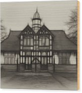 Fractal Pavilion Wood Print