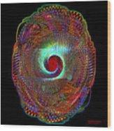 Fractal Shield Wood Print