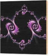Fractal Spiral Wood Print