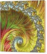 Fractal Spiral Three Wood Print