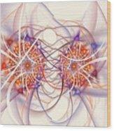 Fractal Synapse Wood Print