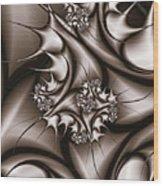 Fractal Thorn Bush Wood Print