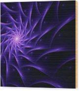 Fractal Web Wood Print