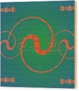 Fractal Yin And Yang Wood Print
