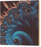 Fractala Persa V B Wood Print