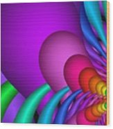 Fractalized Colors -1- Wood Print