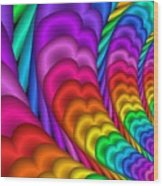 Fractalized Colors -10- Wood Print