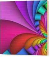Fractalized Colors -2- Wood Print