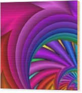 Fractalized Colors -3- Wood Print