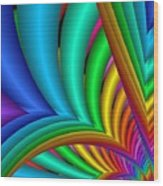 Fractalized Colors -4- Wood Print