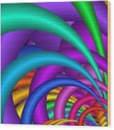 Fractalized Colors -6- Wood Print by Issabild -