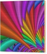 Fractalized Colors -7- Wood Print by Issabild -