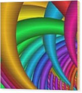 Fractalized Colors -9- Wood Print by Issabild -