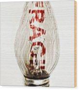 Fragile Light Bulb Wood Print