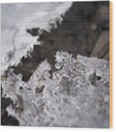 Fragmented Ice Wood Print