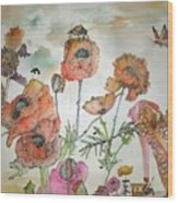 Fragrance  Of Garden Album Wood Print
