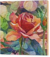 Fragrant Roses Wood Print